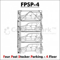 Four-Post Stacked Parking 4-Floor